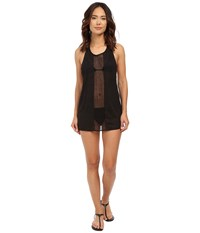 Vitamin A Swimwear Cancun Tee Cover Up Honeycomb Mesh Black Women's Swimwear