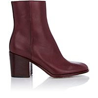 Maison Martin Margiela Women's Side Zip Ankle Boots Burgundy