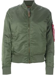 Alpha Industries Padded Bomber Jacket Green