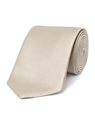 Chester Barrie Mogador Plain Tie Taupe