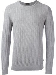 Calvin Klein 'Saymore' Crew Neck Jumper Grey