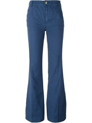 Tory Burch Flared Trousers Blue