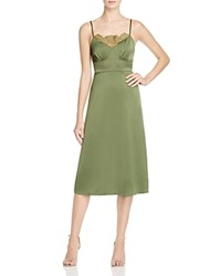 Tracy Reese Satin Slip Dress Moss