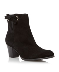 Episode Pascale Knot Detail Leather Ankle Boots Black Leather