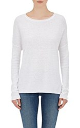 Skin Women's Cotton Linen Slub Knit Sweater White