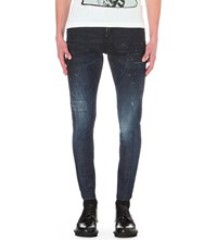 Dsquared Sexy Twist Slim Fit Skinny Jeans Blue