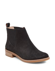 Lucky Brand Noahh Slip On Leather Ankle Boots Black