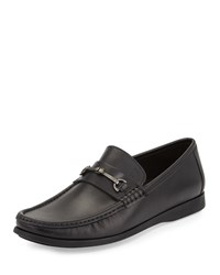 Bruno Magli Enaudin Leather Slip On Loafer Black
