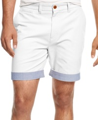 Tommy Hilfiger Custom Fit Chino Shorts Classic White