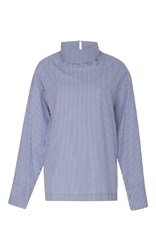 Rosie Assoulin Cotton Poplin Turtleneck Stripe