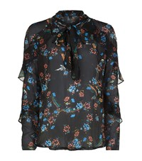 Pinko Floral Sheer Blouse Female Multi