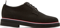 Thom Browne Black Canvas Striped Derbys