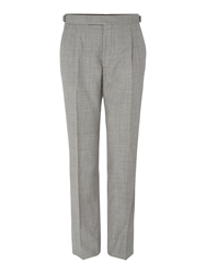 Magee Straight Leg Tailored Trousers Grey
