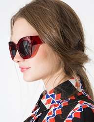 Pixie Market Red Oversize Sunglasses
