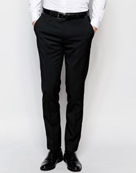 Asos Skinny Suit Pants With Stretch In Black Black