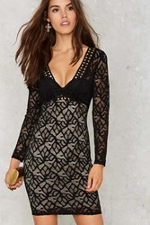 Nasty Gal Lace In Point Bodycon Dress