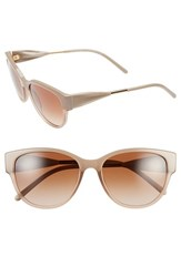 Women's Burberry 'Trench Knot' 56Mm Sunglasses Beige
