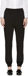 Lanvin Black Draped Lounge Pants