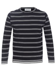 Tomorrowland Striped Crew Neck Sweater Navy White