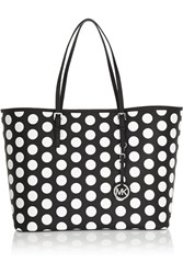Michael Michael Kors Polka Dot Textured Leather Tote Black