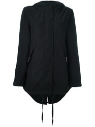 Adidas Originals Fishtail Hem Parka Coat Black
