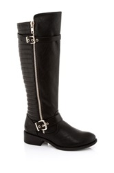 Godiva Marco Textured Tall Boot Black
