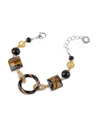 Antica Murrina Veneziana Bolero Murano Glass Bead Bracelet Black