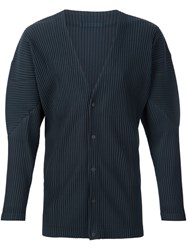 Homme Plisse Issey Miyake Snap Button Pleated Cardigan Green