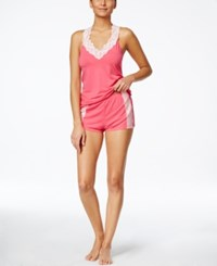 Flora By Flora Nikrooz Clara Knit Camisole And Short Set Bubblegum
