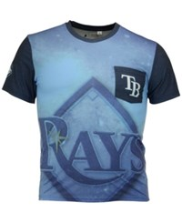 Forever Collectibles Men's Tampa Bay Rays Pocket Sublimated T Shirt Lightblue Navy