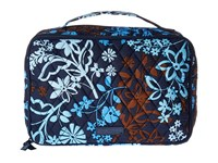 Vera Bradley Large Blush Brush Makeup Case Java Floral Cosmetic Case Black
