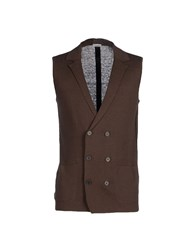 Paolo Pecora Knitwear Cardigans Men Dark Brown