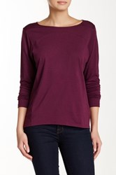 Lilla P Seamed Boatneck Tee Purple
