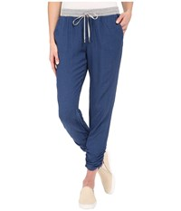 Splendid Rayon Crosshatch Pants Medium Wash Women's Casual Pants Navy