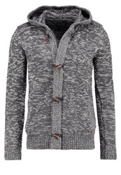Blend Of America Cardigan Charcoal Mottled Anthracite