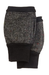 Rogue Fingerless Tweed Gloves Black