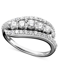 Wrapped In Love Diamond Ring In 14K White Gold 1 Ct. T.W.