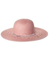 Bcbgeneration Feather Chain Floppy Hat Whisper Pink