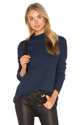 Stateside Solid Turtleneck Thermal Navy