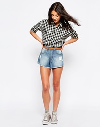 Influence Denim Hot Pants Blue