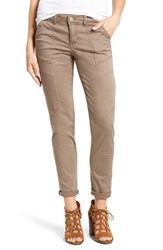Wit And Wisdom Women's Skinny Cargo Pants Taupe