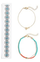 Bp Temporary Tattoo And Bracelets 3 Pack Turquoise Gold