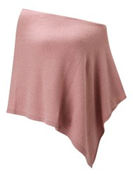 Jigsaw Knitted Ribbed Border Poncho Pale Pink