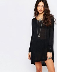 One Teaspoon Soho Wool Longsleeve Dress Black