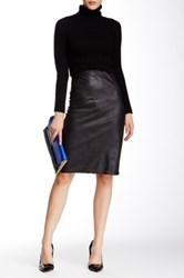 Insight Black Cracked Faux Leather Skirt