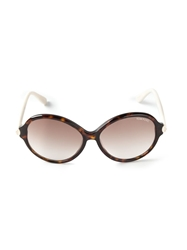 Tom Ford Oversized Oval Shape Sunglasses Brown