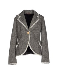 Rose' A Pois Suits And Jackets Blazers Women Grey