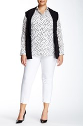 Amanda And Chelsea Solid Ankle Pant Plus Size White