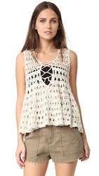 Free People Circles Within Circles Sweater Tank Cream