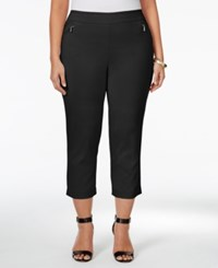Styleandco. Style Co. Plus Size Zip Pocket Capri Pants Only At Macy's Deep Black